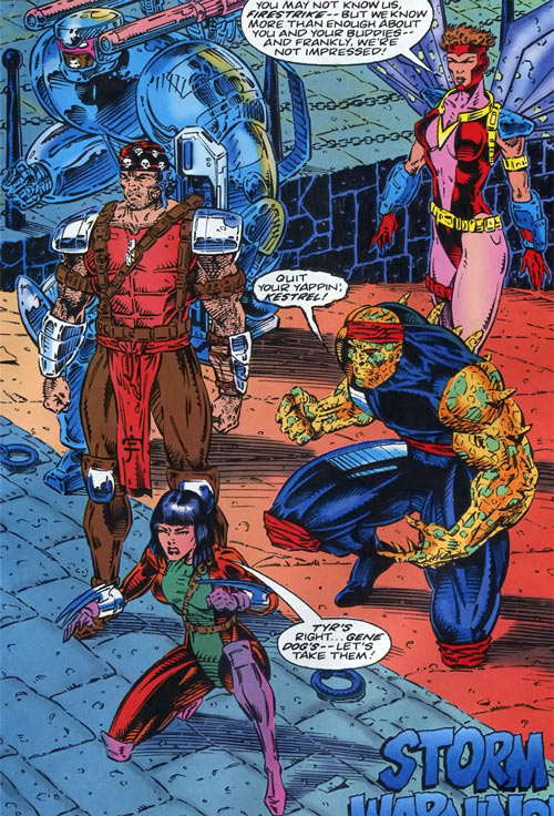 Gene Dogs - STORM - Marvel Comics UK - Group shot
