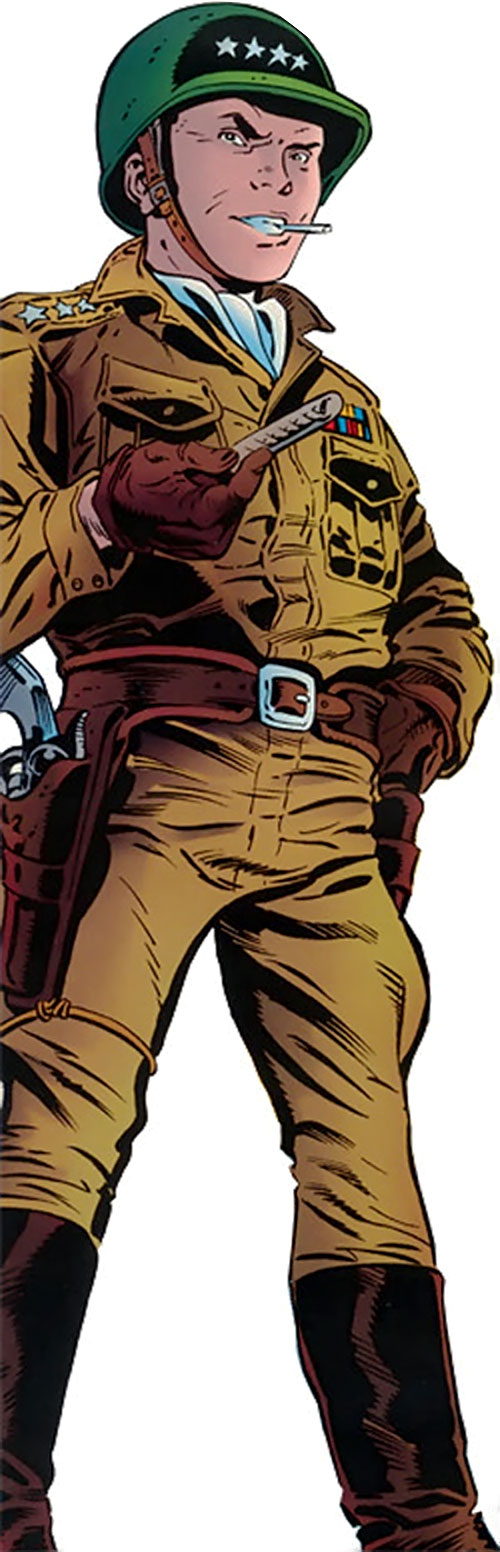 General Armstrong (Robin enemy) (DC Comics) dressed as Patton