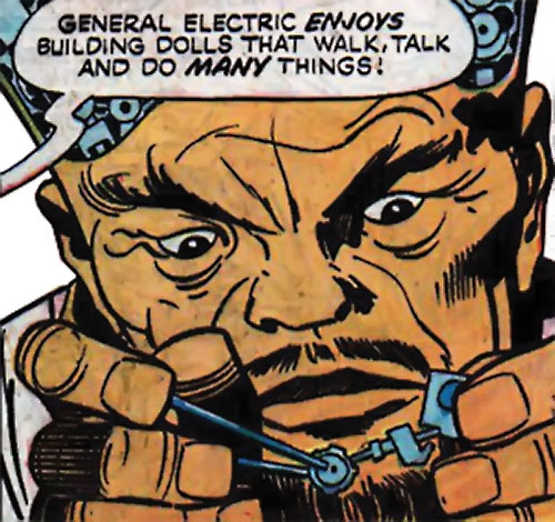 General Electric (Wonder Woman / Sandman enemy) (DC Comics) doing electronics work
