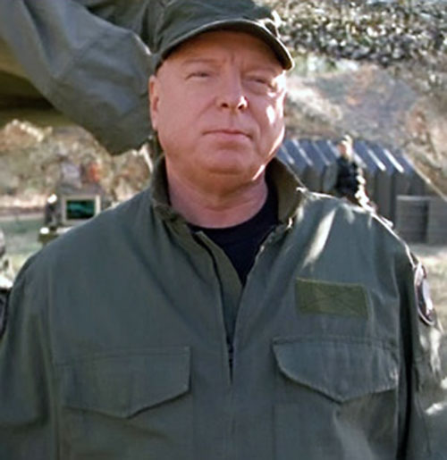 General Hammond (Don Davis in Stargate) in green BDUs