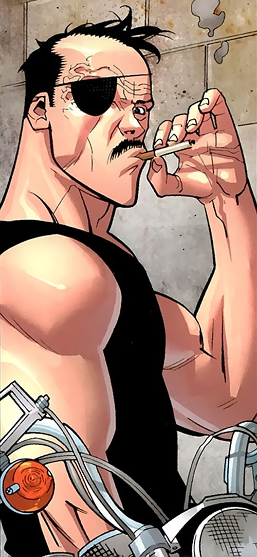 General Kregg (Invincible comics) with eye patch and cigarette