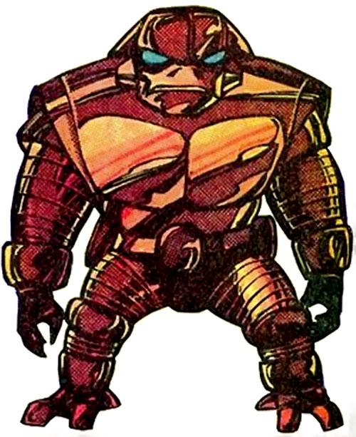 Comic book alien robot