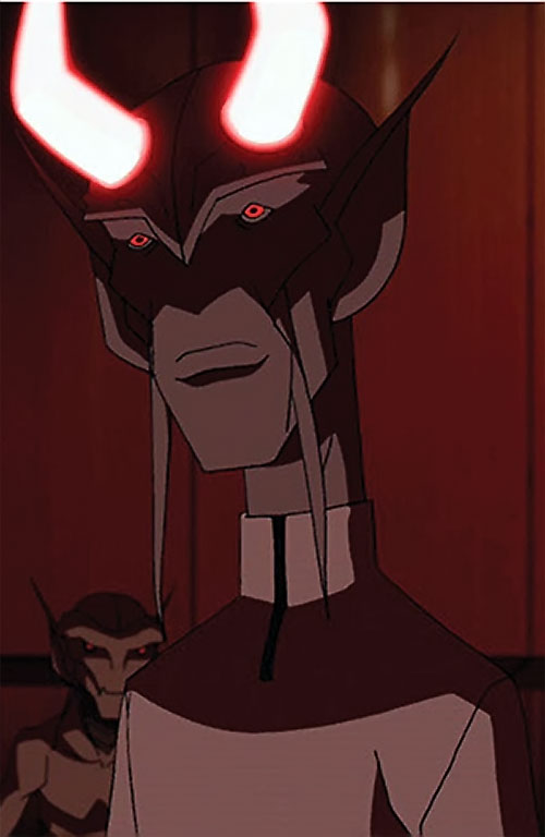Dubbilex (Young Justice animated series) with horns glowing