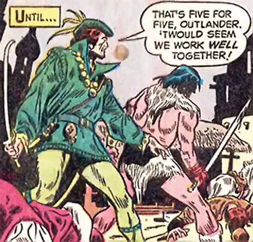 Ghilkyn (Claw the Unconquered ally) (DC Comics) fighting side by side with Claw
