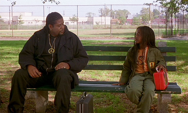 Ghost Dog (Forest Whitaker) and Pearline (Camille Winbush)