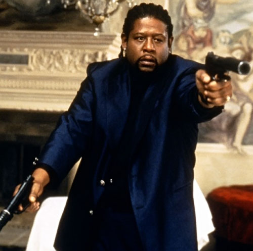 Ghost Dog (Forest Whitaker) dual-wielding silenced pistols