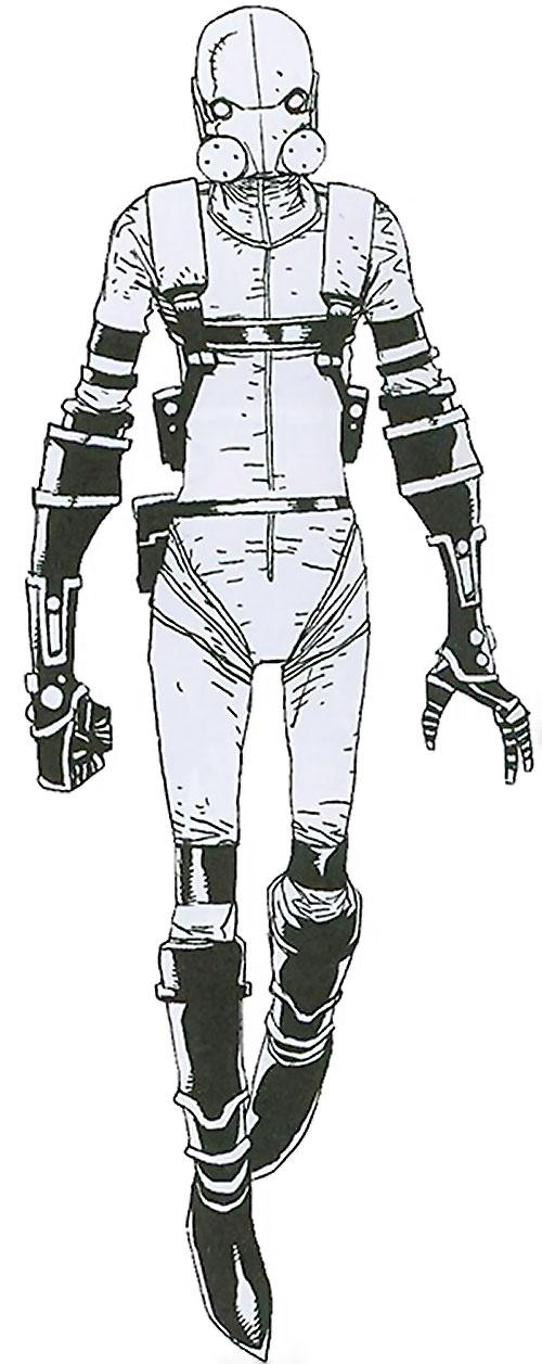 Ghost of the Thunderbolts (Iron Man enemy) (Marvel Comics) Thunderbolts era white costume