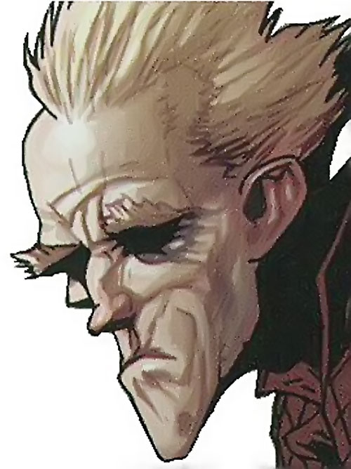 Ghost of the Thunderbolts (Iron Man enemy) (Marvel Comics) face closeup