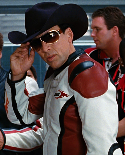 Nicholas Cage as Johnny Blaze (Ghost Rider) with a cowboy hat
