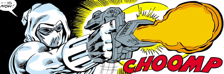 Ghost (Iron Man enemy) firing a weapon