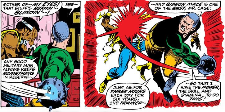Gideon Mace (Marvel Comics) hitting Luke Cage
