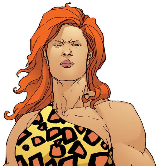 Giganta (Wonder Woman enemy) (DC Comics) face closeup