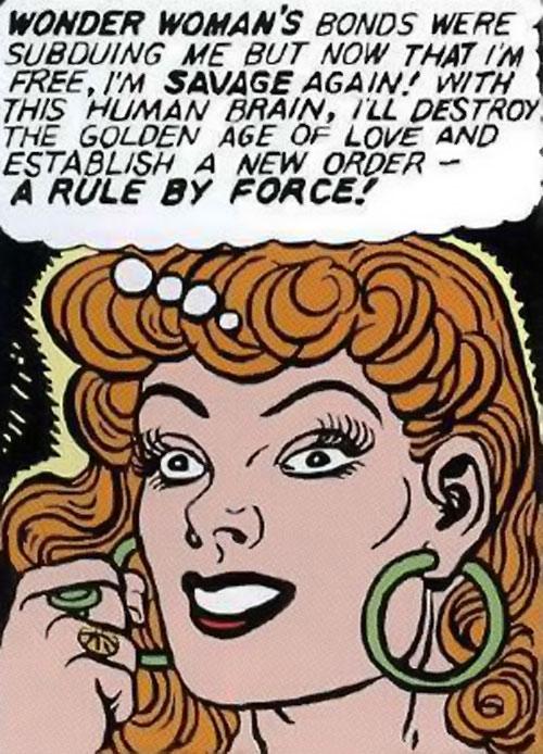 Giganta (Wonder Woman enemy) (Golden Age DC Comics) face closeup