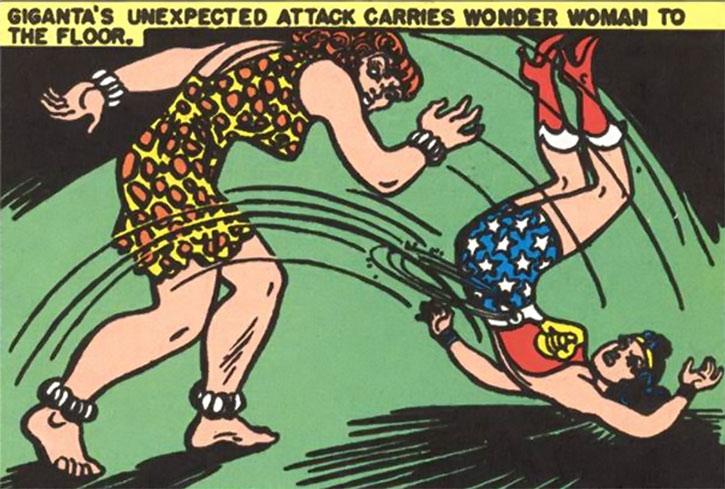 Giganta (Golden Age version) vs. Wonder Woman