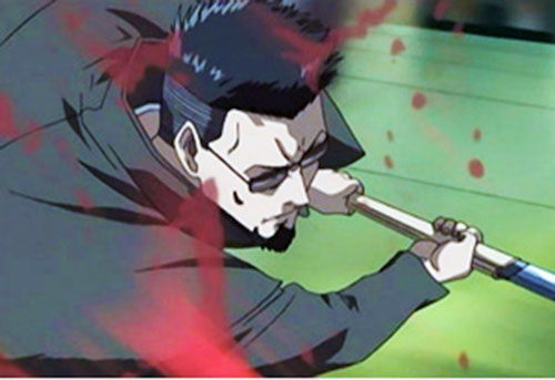 Ginji Matsuzaki from Black Lagoon kills with his sword