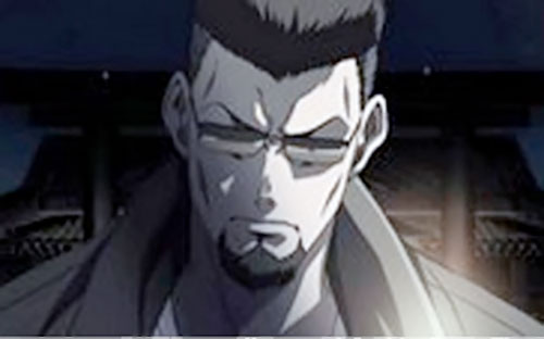 Ginji Matsuzaki from Black Lagoon face closeup