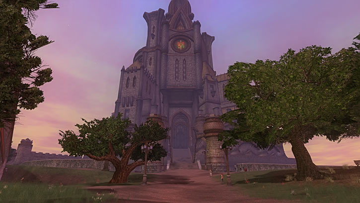 The royal castle in Qeynos in Everquest 2