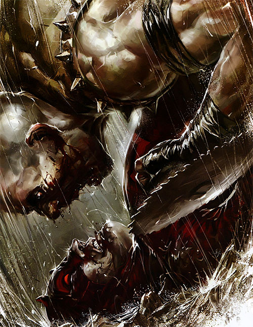 The Gladiator and Daredevil face to face
