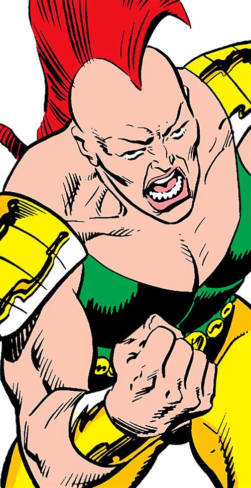 Gladiatrix (Marvel Comics) trash-talking her opponent
