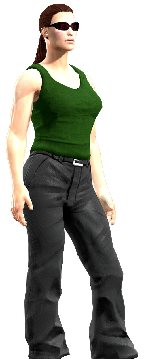 Gom Jabbar (DC Heroes RPG) with green tank top