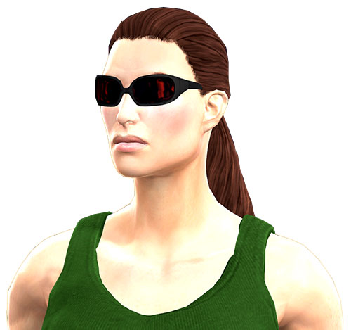 Gom Jabbar (DC Heroes RPG) face closeup with shades