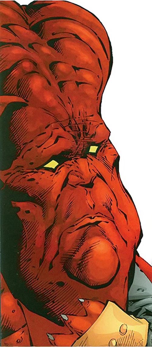 Gorgon of the Extremists (DC Comics) inhuman face closeup