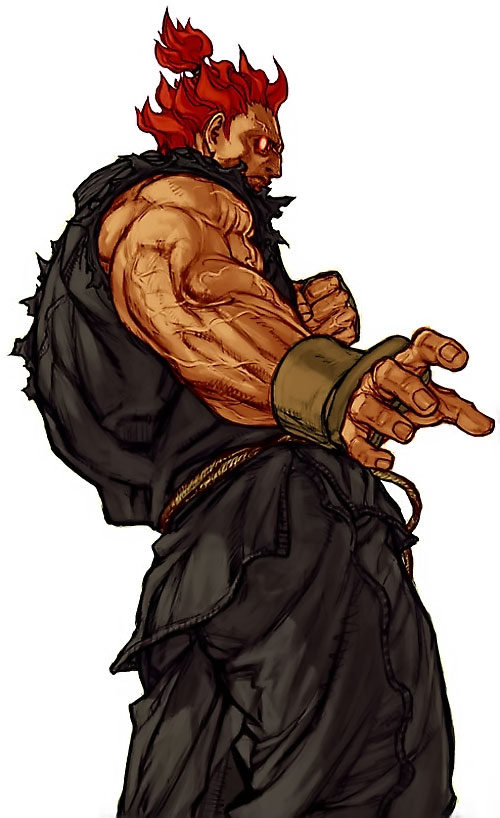 Gouki from Street Fighter video games is muscular