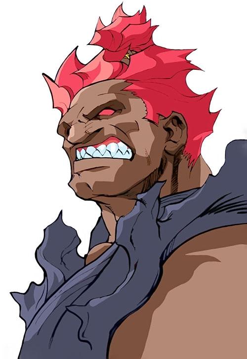 Gouki from Street Fighter video games portrait