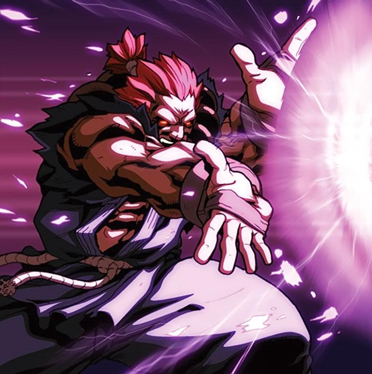 Gouki casts an energy ball