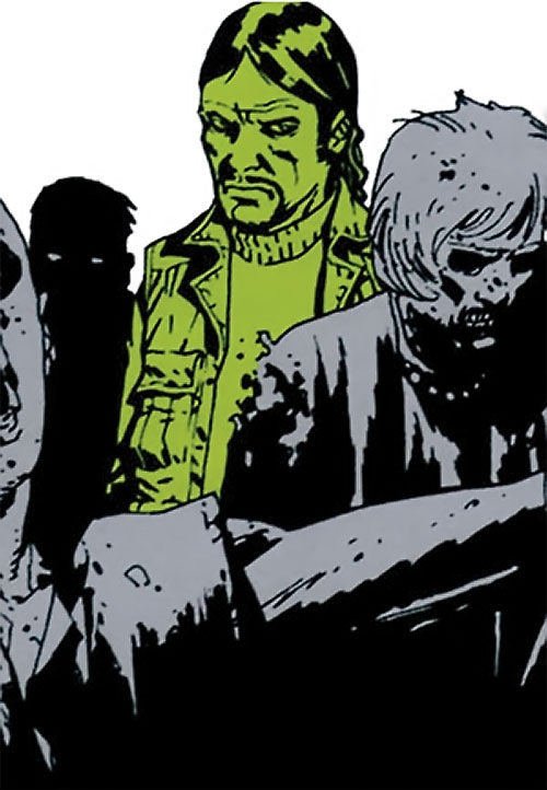 The Governor (The Walking Dead comics) among zombies