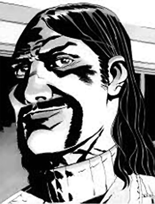 The Governor (The Walking Dead comics) smirking