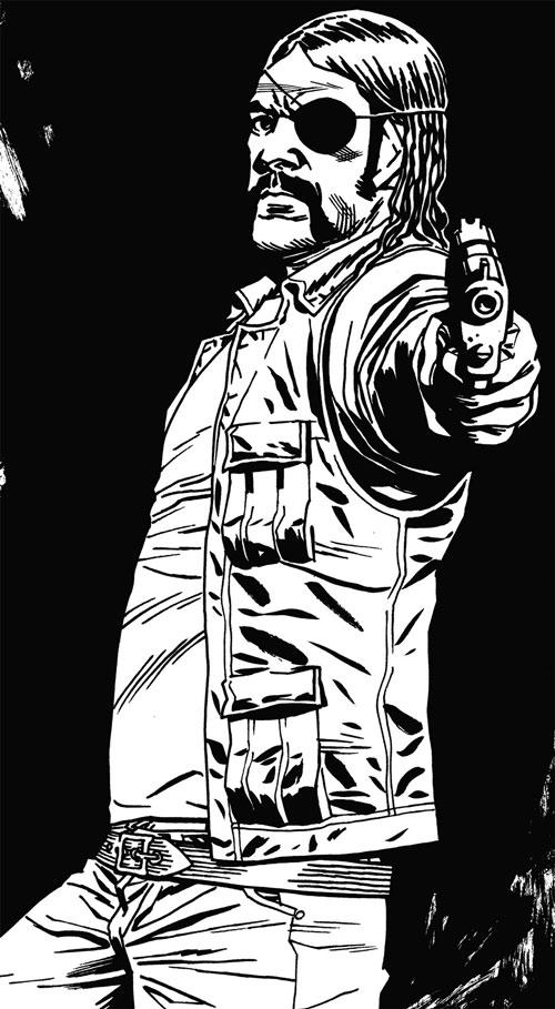 Governor (Walking Dead comics) by Charlie Adlard (ink)