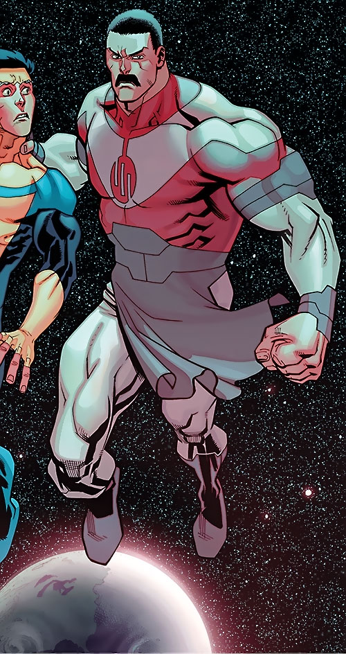Grand Regent Thragg (Image Comics) vs. Invincible in space