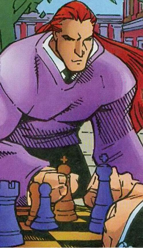 Gray King of Cerebro's X-Men (Marvel Comics) playing chess