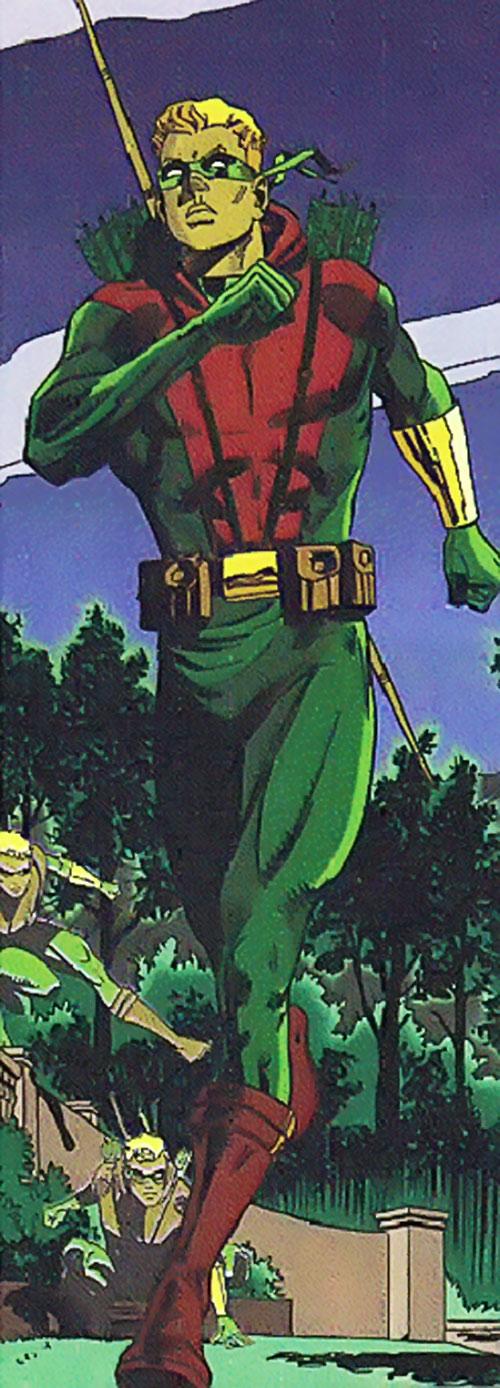 Green Arrow (Connor Hawke) (DC Comics) running in the night