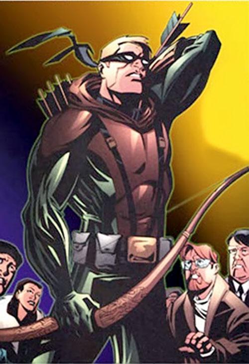 Green Arrow (Connor Hawke) (DC Comics) drawing an arrow