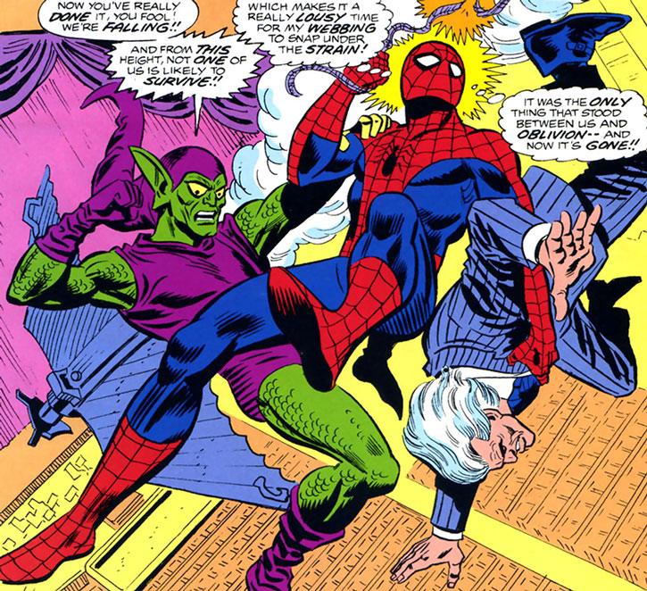 The Green Goblin (Bart Hamilton) vs. Spider-Man and Silvermane