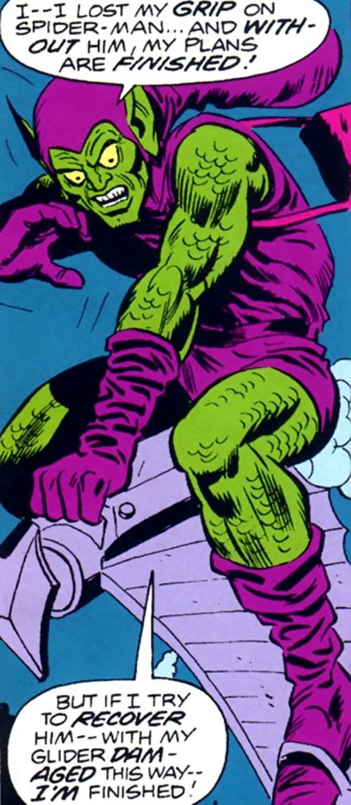 Green Goblin (Bart Hamilton) facing defeat
