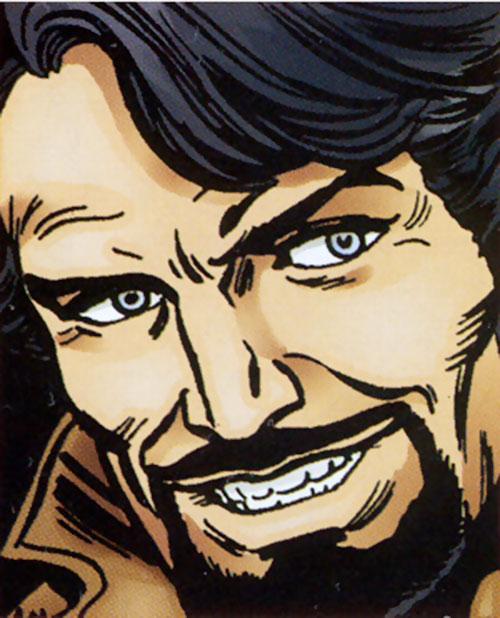 Green Goblin (Bart Hamilton) face closeup