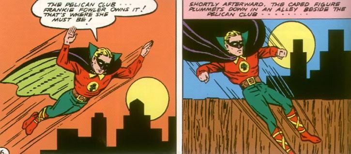 The Green Lantern (Alan Scott) investigates during the 1940s