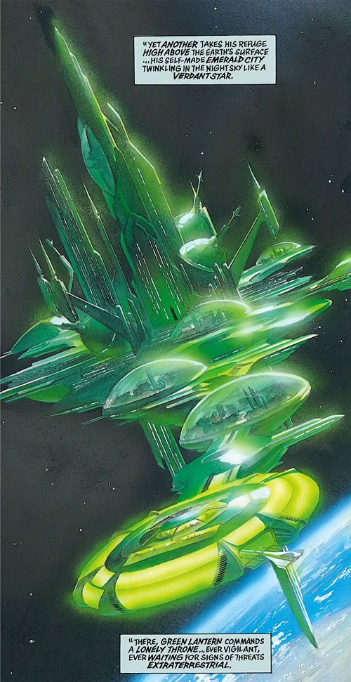 Green Lantern's space station in Kingdom Come (DC Comics)