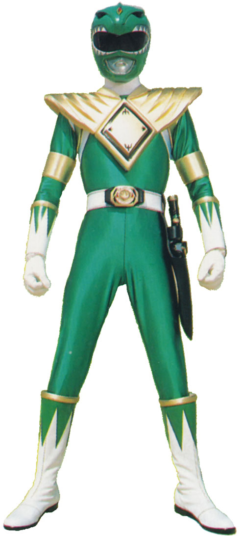 Green Ranger (Tommy Oliver) of the Mighty Morphin' Power Rangers standing tough