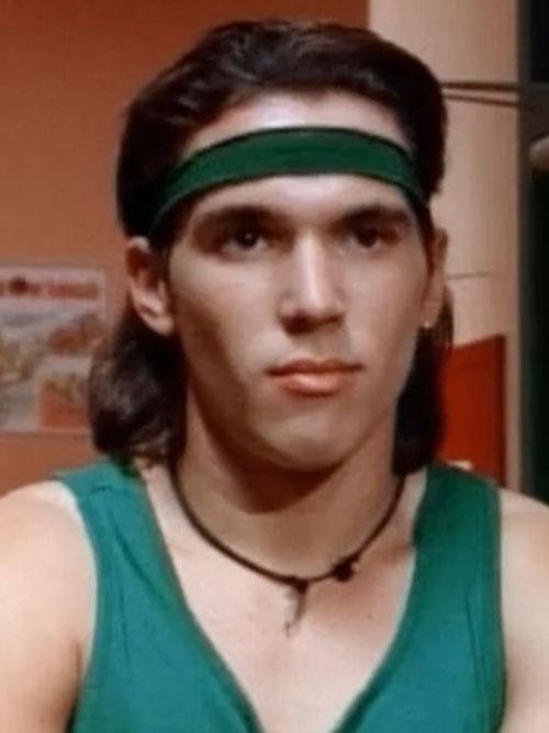 Green Ranger (Tommy Oliver) of the Mighty Morphin' Power Rangers - Jason David Frank with headband