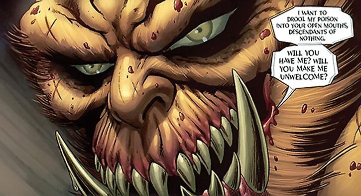 Grendel's face closeup