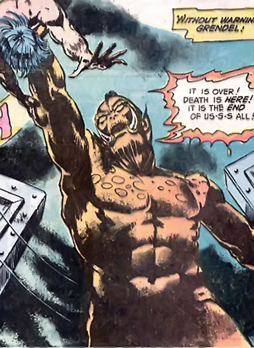 Grendel (Beowulf / Wonder Woman enemy) (DC Comics) attacks