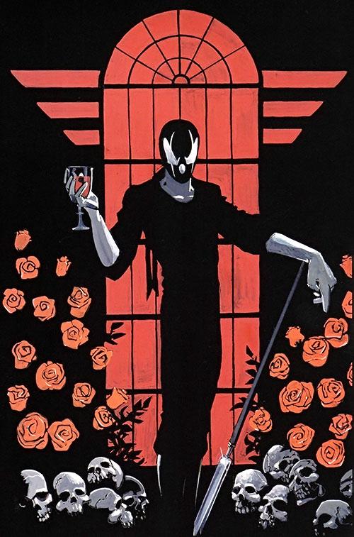 Grendel (Hunter Rose) red and black art