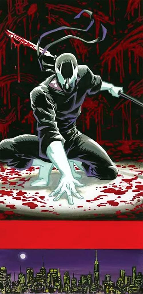Grendel (Hunter Rose) and blood splatters
