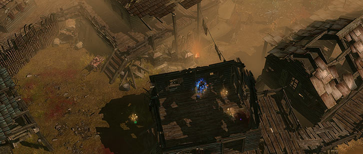 Grim Dawn - Game screenshot - Into the candle district of Malmouth