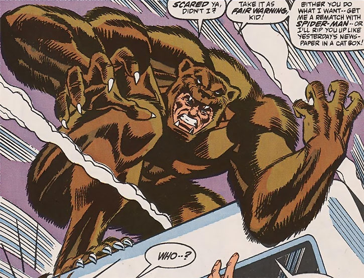 Grizzly Marvel Comics Spider Man Enemy Character