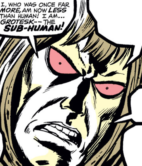 Grotesk (Marvel Comics) early face closeup